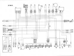 XT600E схема проводки